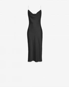 Платье миди с открытой спиной на бретелях