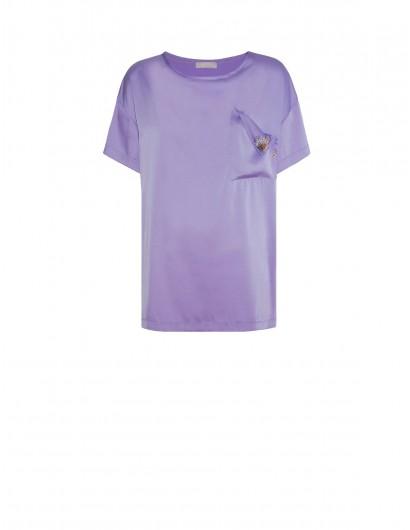 Платье-футболка из атласного шелка