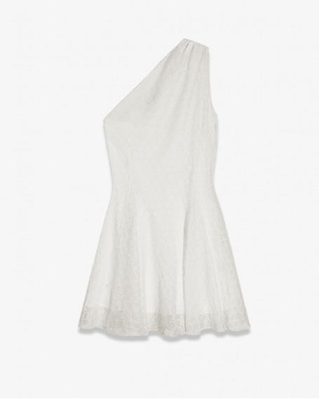 Ассиметричное мини-платье из шелкового шифона