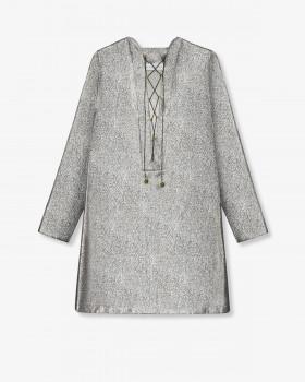 Платье А-силуэта из ламе