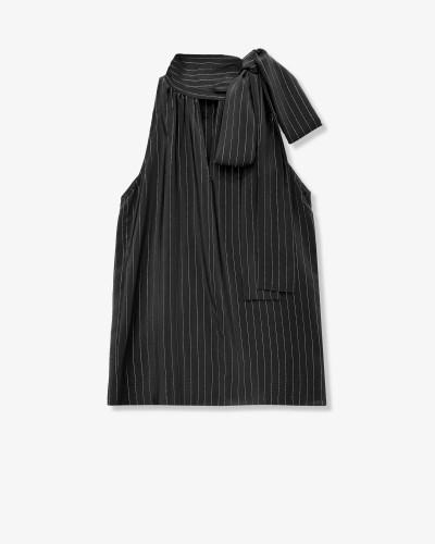 Блуза из принтованного шелкового шифона