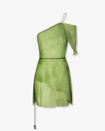 Мини-платье из шелкового шифона