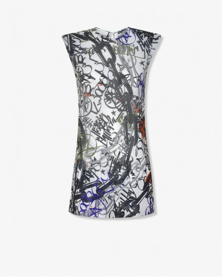 Мини-платье из шифона