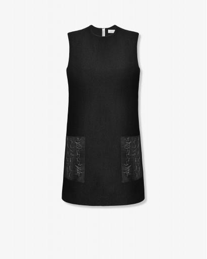Мини-платье из фактурной шерсти