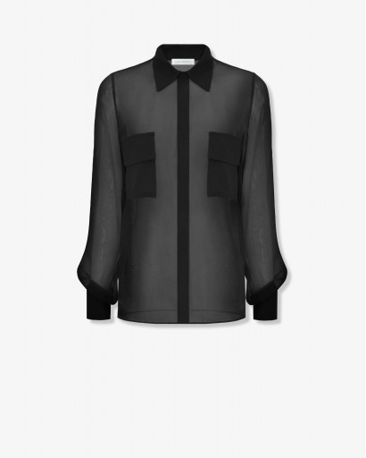 Блуза из шелкового шифона