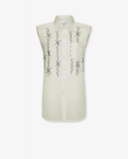 Блуза без рукавов из хлопка