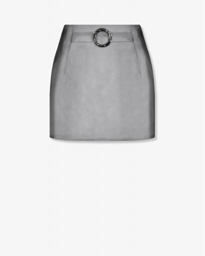 Мини-юбка из атласа
