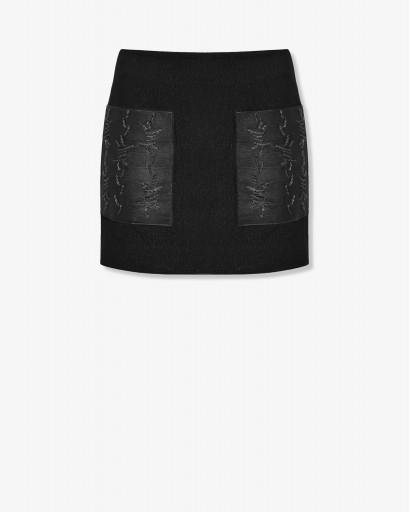 Мини-юбка из фактурной шерсти