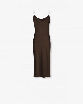 Платье миди  на бретелях