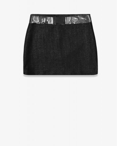 Мини-юбка из структурной шерсти