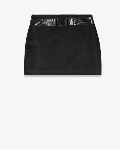 Мини-юбка из микровильвета